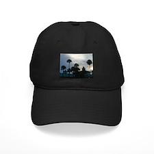 Palm Trees at Dusk Baseball Hat