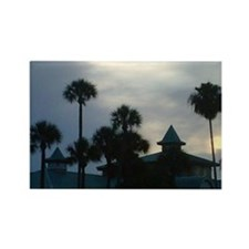 Palm Trees at Dusk Rectangle Magnet (10 pack)