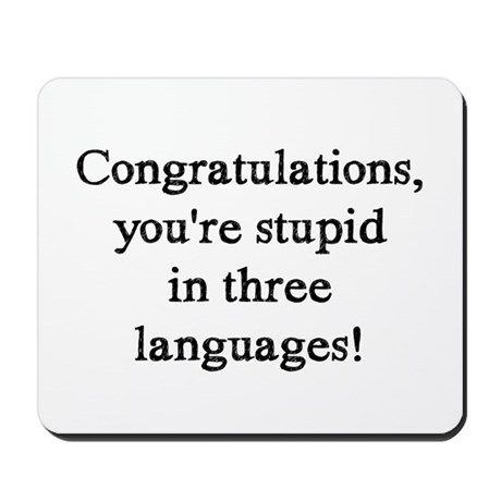 3 Languages Mousepad