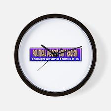 Political Dissent Isn't Racis Wall Clock