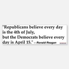 Ronald Reagan Quote #1 Bumper Car Car Sticker