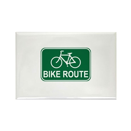 Bike Route Sign Rectangle Magnet