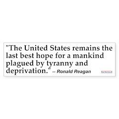 Reagan Quote #5<br>Bumper Bumper Sticker