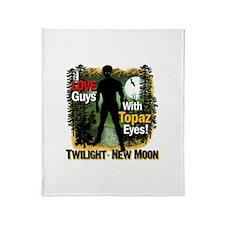 I Love Guys With Topaz Eyes! Throw Blanket