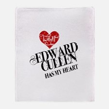 Edward Has My Heart Throw Blanket