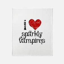 I Love Sparkly Vampires Throw Blanket