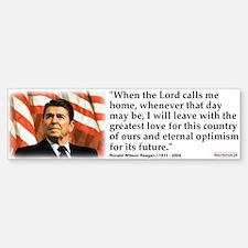 Bumper Sticker:When the Lord Calls Me Home
