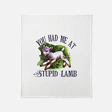 Twilight Stupid Lamb Throw Blanket