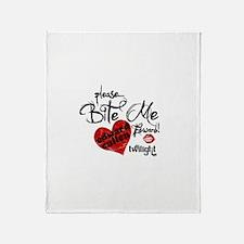 Bite Me Edward Cullen Throw Blanket