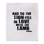 Twilight Movie Quote Throw Blanket
