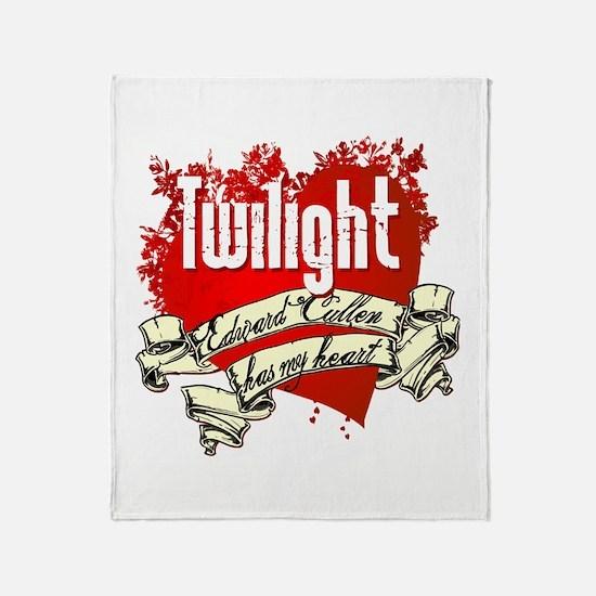 Edward Cullen Tattoo Throw Blanket