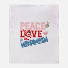 Peace Love and Twilight Throw Blanket