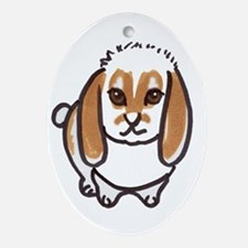 little lop Ornament (Oval)