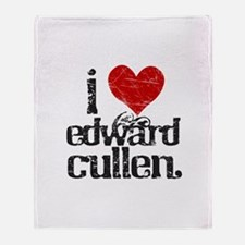 I Love Edward Cullen Throw Blanket