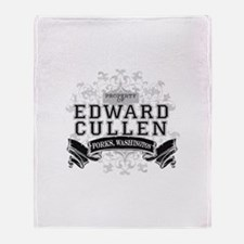 Property of Edward Cullen Throw Blanket