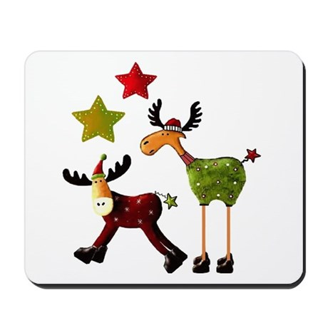 Winter Star Mooses Mousepad