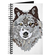 Stylized Grey Wolf Journal