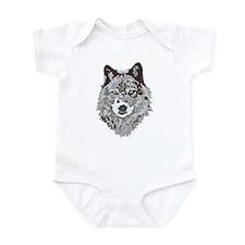 Stylized Grey Wolf Infant Bodysuit