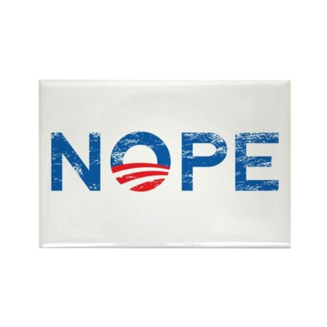 NOPE Anti Obama Rectangle Magnet (100 pack)
