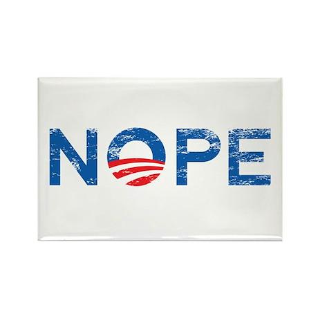 NOPE Anti Obama Rectangle Magnet (10 pack)