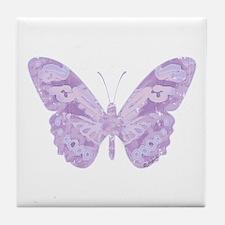 Lavender Butterfly Tile Coaster
