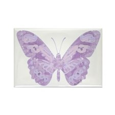 Lavender Butterfly Rectangle Magnet