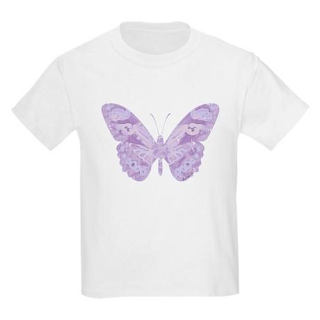 Lavender Butterfly Kids T-Shirt