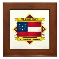 7th Georgia Infantry Framed Tile