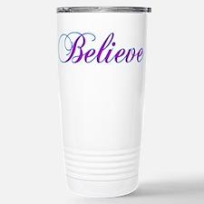 Believe Gifts in Purple & Teal Travel Mug