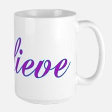Believe Gifts in Purple & Teal Mug