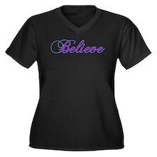 Believe Gifts in Purple & Teal Women's Plus Size V