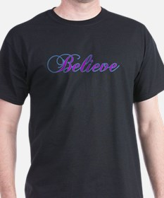 Believe Gifts in Purple & Teal T-Shirt