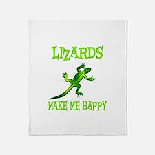 Lizards Throw Blanket