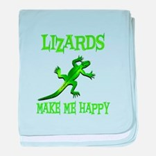 Lizards baby blanket