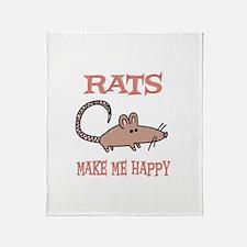 Rats Throw Blanket