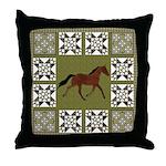 Singlefooting Horse Throw Pillow