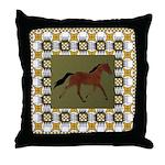 Racking Horse Throw Pillow