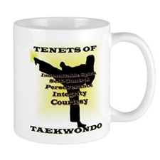 Traditional Taekwondo Tenets Gold Mug
