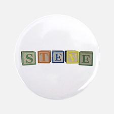 """Steve Alphabet Block 3.5"""" Button"""