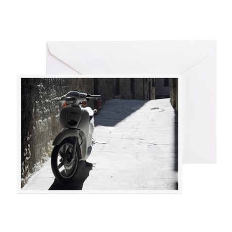 Vespa in the Shadows Greeting Cards (Pk of 20)