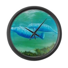 manatee Large Wall Clock