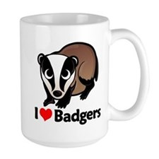 I Love Badgers Mug