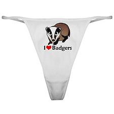 I Love Badgers Classic Thong