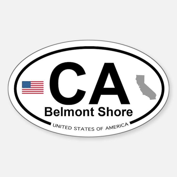 Belmont Shore Sticker (Oval)