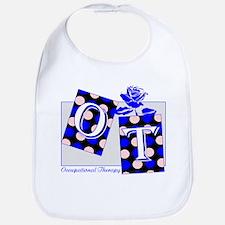 ot puzzle aqua Bib