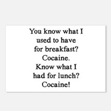 Cocaine Postcards (Package of 8)