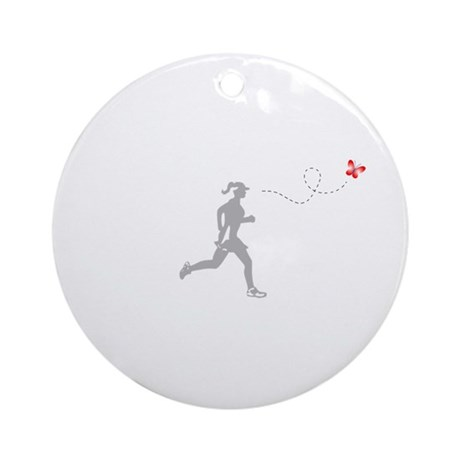 Butterfly Runner Ornament (Round)