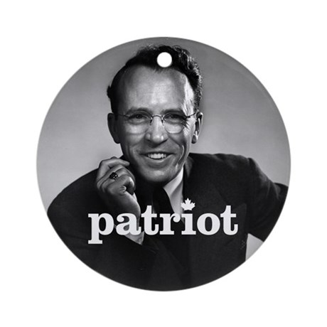 """Tommy Douglas - Patriot"" Ornament (Round)"