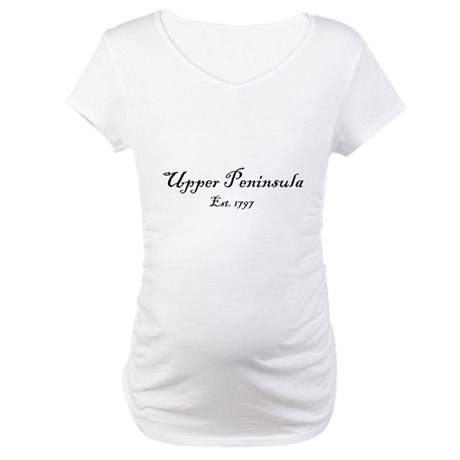 Black Font Est. 1797 Maternity T-Shirt