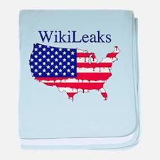 WikiLeaks America baby blanket